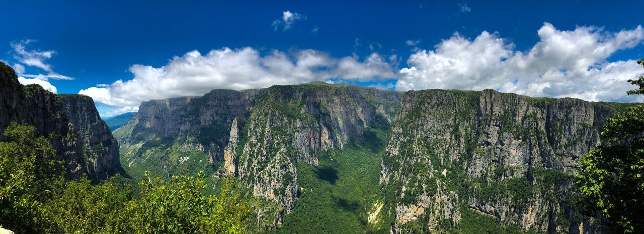 Vikos gorge Zagoroxoria,greece Greece Gorge Vikos Gorge Cloud - Sky Sky Plant Beauty In Nature Nature Growth Scenics - Nature No People Tranquility Day Sunlight Green Color Landscape Tranquil Scene Land Field Blue Environment Outdoors Tree The Great Outdoors - 2018 EyeEm Awards
