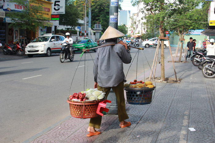 Local People Local Food Traditional Clothing Culture And Tradition Selling On The Street Ho Chi Minh City Vietnamese Vietnam