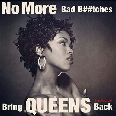 Ladies quit degrading yourselves and letting others degrade you be calling yourself a bad bTch . The sexiest thing a woman can possess is confidence and respect for herself. How you allow yourself to be seen or treated is how people will view you and treat you, although some of you may care less what people think, but at the end of the day a man wants a queen who is respected among all not just some bad bTch ... Respect Knowyourworth queensneedkings bitchesneeddogs