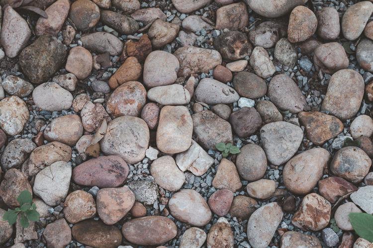 Stones arranged on the ground for the background