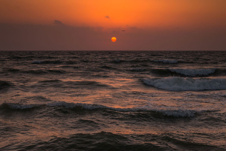 The rising sun Beach Clouds Horizon Over Water Light Majestic Mediterranean  Mediterranean Sea Nature Nature Nature_collection Ocean Orange Sea Seascape Sky Summer Sun Sunrise Tranquility Travel Travel Destinations Vibrant Color Water Wave Waves