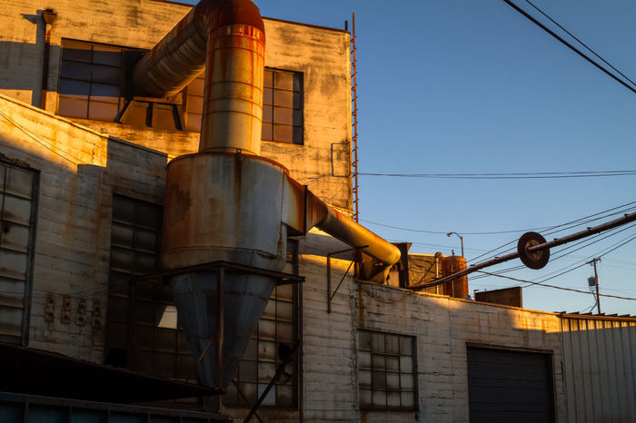 Industrial Architecture Building Exterior Built Structure Day Low Angle View No People Outdoors Sky