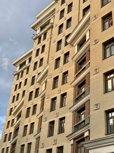 Window Low Angle View Architecture Building Exterior Built Structure City Building No People Residential District In A Row Pattern Sunlight Full Frame House Residential Building