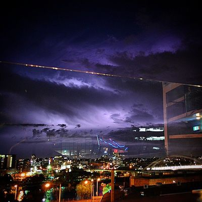 Lightning illuminating the night sky over Brisbane Lightning Storm Travelling Rtw StormChaser Australia ThisIsQueensland Night Sky ChillBackpackers