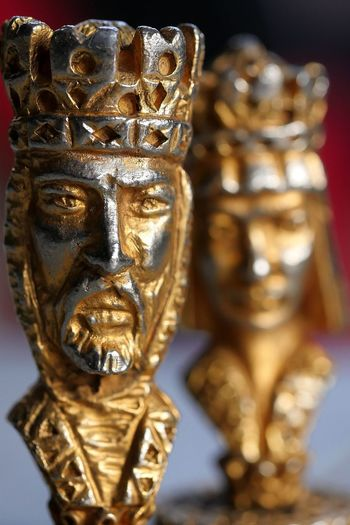 King and Queen Chess Piece Macro Photography Art And Craft Human Representation