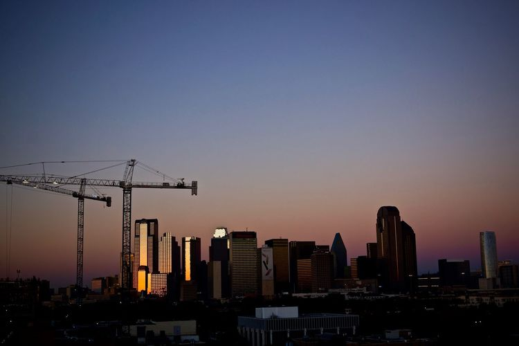 Morning Construction Blue Hour Building Exterior Citescape City Cityscape Construction Construction Site Crane Crane - Construction Machinery Dallas Development Eye4photography  EyeEm Best Shots Skyscraper Sunrise Tadaa Community Texas Twilight Urban Skyline USA