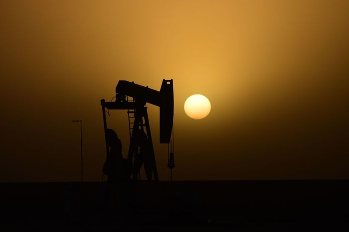 Sunset No People Silhouette Nature Outdoors Texas Photographer Eyeemphotography Sunsetsaroundtheworld Landscape Rural Scene Nature Pump Jack Storm Sand Storm Silhouette Pump Jack Oilfield