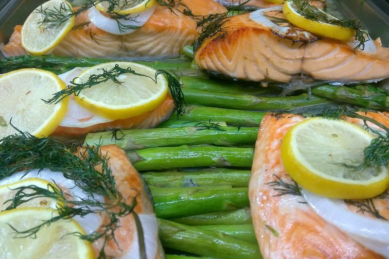 salmon. photo by Shell Sheddy Salmon - Seafood Shellsheddyphotography Sheshephoto Food And Drink Food SEAFOOD🐡 Asparagus Season Foodphotography Seafood Plate Citrus Fruit Lemon Close-up Food And Drink Food Styling