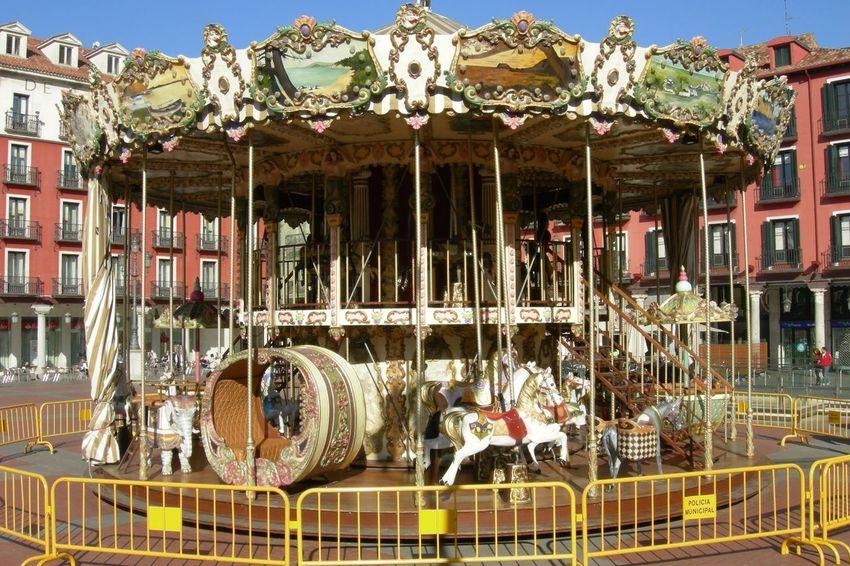 Caballitos Carousel Day Outdoors Plaza Mayor Valladolid Tiovivo