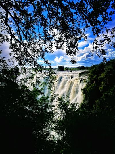 Wonders of the world. Outdoors Falls Zambia Livingstone  Wonders Of The World Nature Sky Beauty In Nature