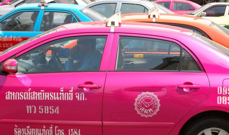Bangkok Taxis Bangkok Thailand. Car Day Land Vehicle No People Outdoors Red Taxis Thailand Travel Traffic Jam Traffic Jam City Traffic Jam In Bangkok Traffic Jams Transportation