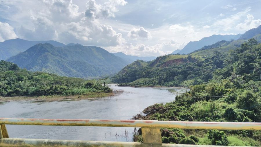 Rio Cauca Mountain Lake Mountain Range Water Outdoors Landscape Nature Scenics No People Beauty In Nature Roadtrip Traveler Antioquia River Tranquility
