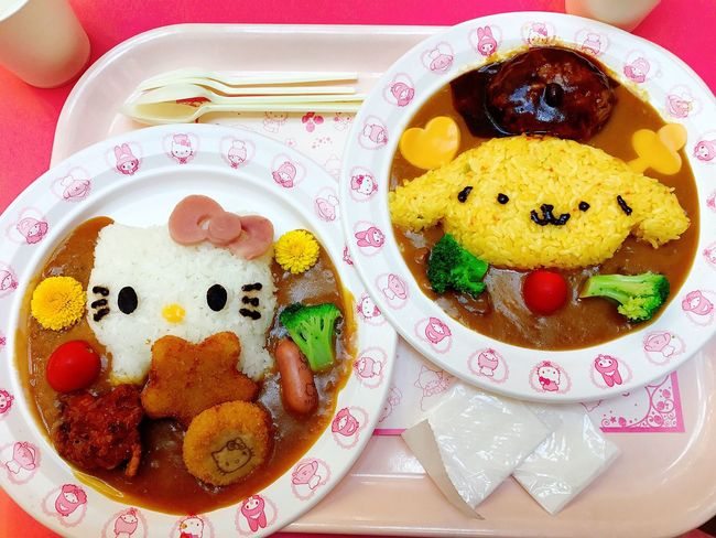 curry🍛 Food Curry Yummy Kitty Pompompurin Cute Eating
