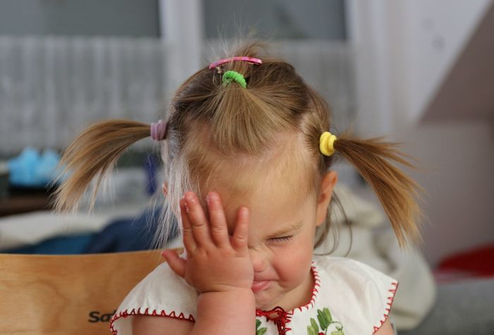 Facepalm - Cute little Girl DOH! Embarrassment Child Childhood Children Only Close-up Cute Girl Disappointment Exasperation Eyes Closed  Facepalm Frustration Gesture Gesturing Hairstyle Headshot Home Interior Human Hair Human Hand Indoors  One Girl Only One Person People Real People Toddler