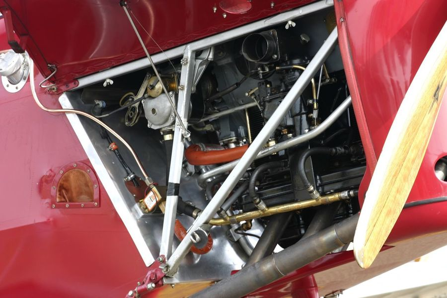 Historic Aircraft - Tiger Moth Engine Compartment Airshow Engine Compartment Mechanical Tiger Moth Travel Travel Photography Aircraft Aircraft Engine Engine Industry Mode Of Transport No People Old Aircraft Red Transportation Vintage Vintage Aircraft