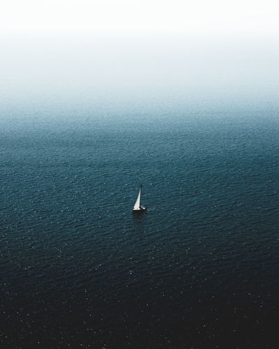 Freedom Beauty In Nature Day Minimalism Nature No People Outdoors Sailboat Scenics - Nature Sea Seascape Water Waterfront A New Beginning My Best Photo