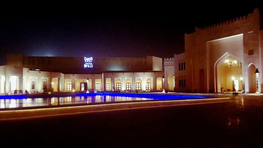 Katara Katara Hall Architecture Night Outdoors Pool