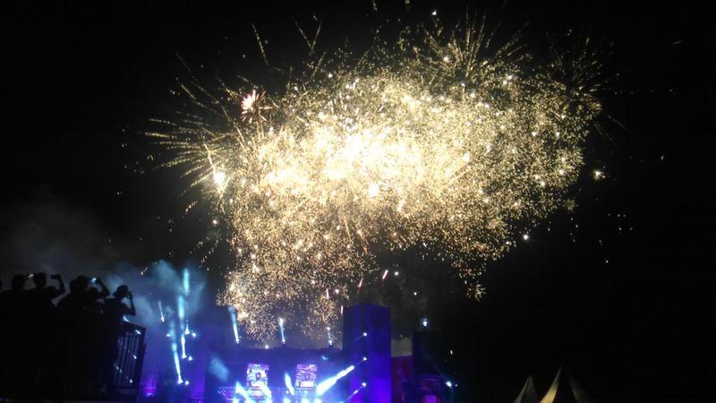 Fireworks Endshow Festival Breda Airport Daylight Festival Beautiful Netherlands Festival Season