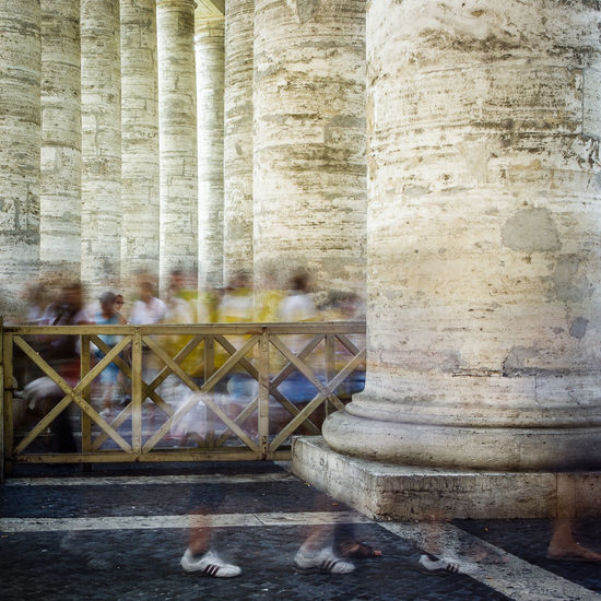 Copy Space EyeEm Best Shots Historical Building Moving Moving Around Rome Rome Vatican Architecture Built Structure Day Historic Italy Large Group Of People Long Exposure Old Outdoors People Real People Tourism Travel Travel Destinations