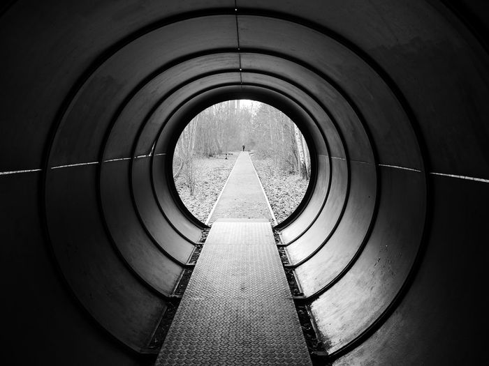 Arch Architecture Built Structure Circular Sky The Way Forward Tunnel EyeEmNewHere Tunnel View Black And White