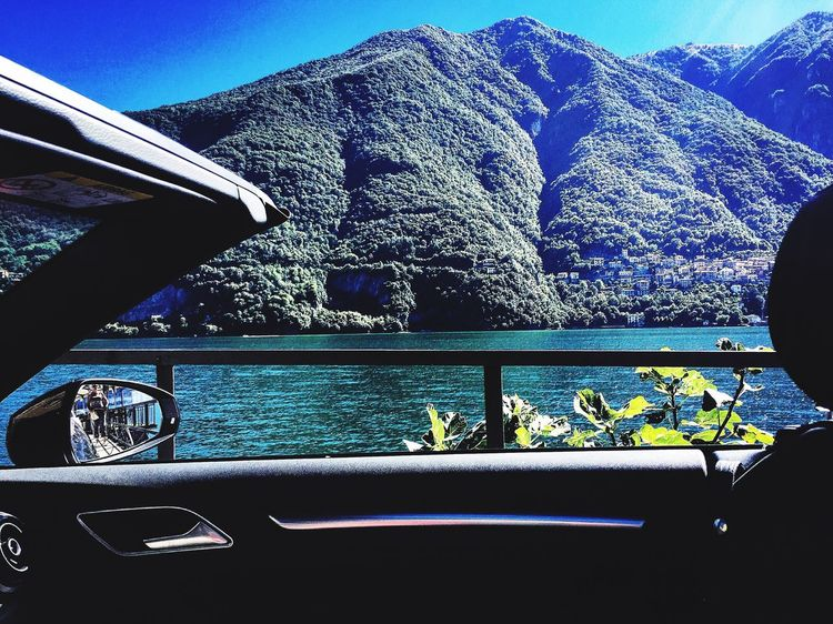 Lazy Audi Driver commits Drive By Shooting of Lake Como from seat of Open Top Cabriolet on The Italian Tour