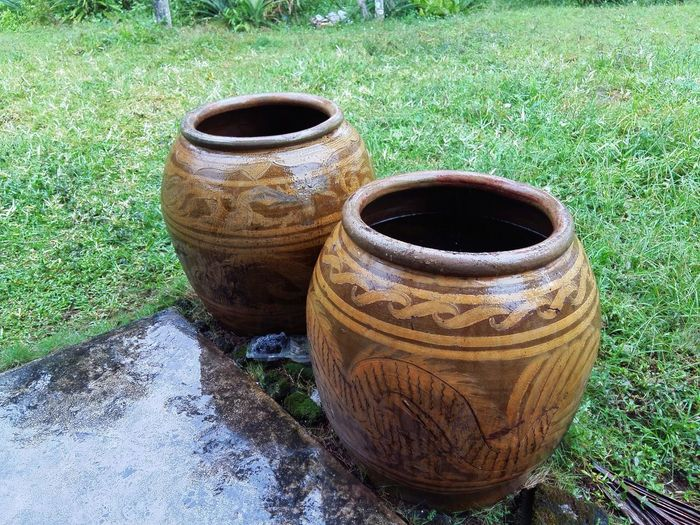 Large pottery water jars from Thailand Asian  Asian Culture Baked Clay Clay Culture Culture Of Thailand Hardened Clay Jar Jar Of Clay Jars  Jars Of Clay Large Pot Pottery Thai Thailand