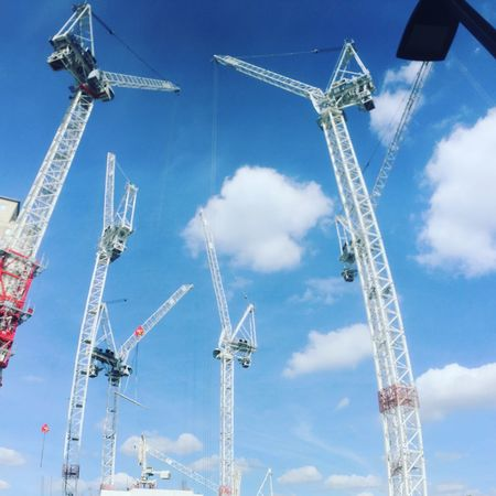 The Architect - 2017 EyeEm Awards Tower Crane Waterloo Summer Views Construction Blue Sky Perspectives On Nature