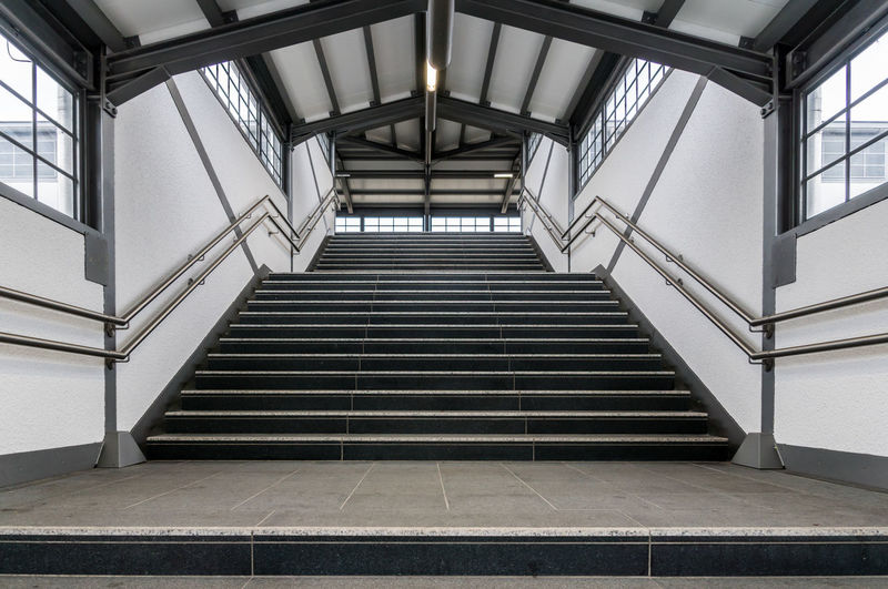 Low angle view of steps at subway station
