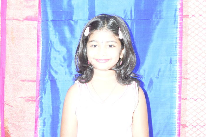 Eyeem Photography EyeEm Check This Out Overexposed Over Flash Flash Girl Child Girl Cheese! Whitish Smiley Face Saree