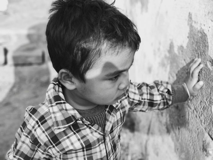 """"""" Life is full of Confusion , and it have it's own Life """" #Kid #potrait #blackandwhite Monochrome Cute Model Outdoors"""
