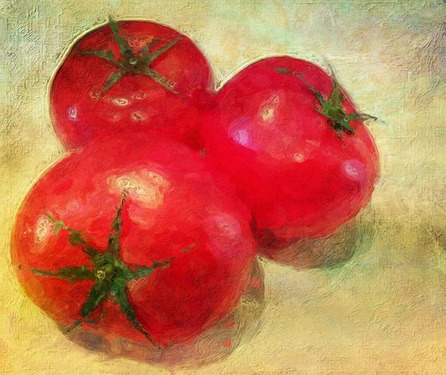 NEM Painterly Tomato Series 'Three Is A Magic Number' 3 Of One