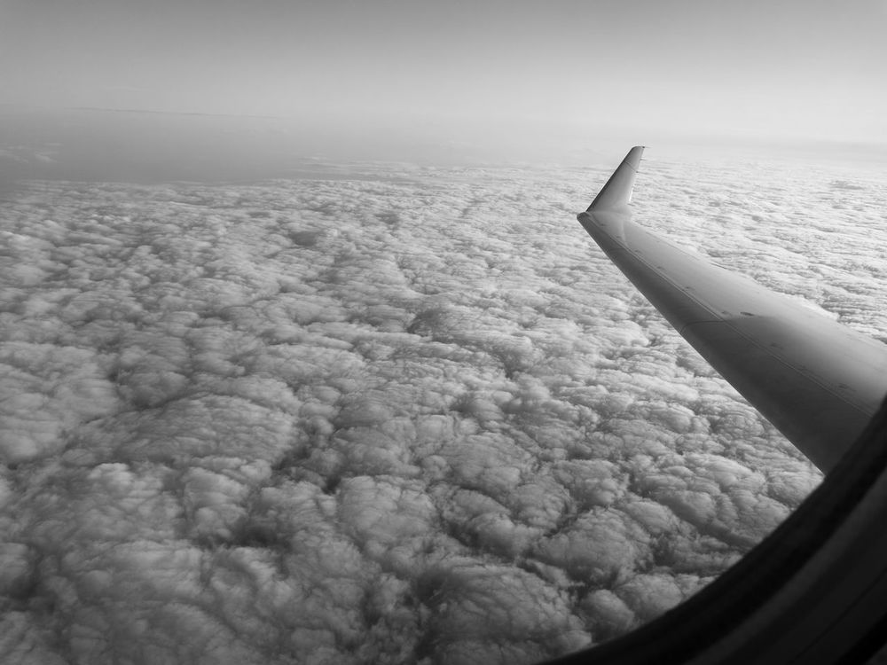 Black And White Huawei p9 Flying Wings Leica Huawei P9 Sky The Great Outdoors With Adobe Clouds And Sky Waves