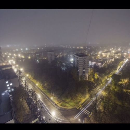 Город и туман... Fog Night Cityscapes Landscape