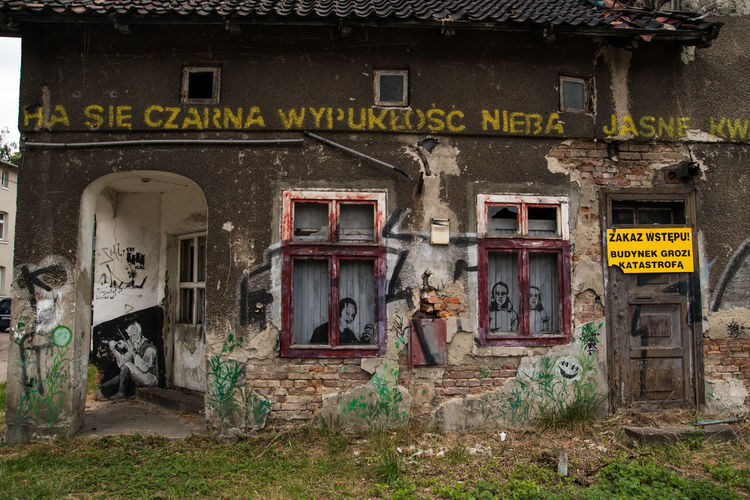 Poland Architecture Building Damaged Gdansk Graffiti No People Old Old Buildings Ruined Trojmiasto