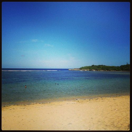 Calm Beach Nusadua Bali INDONESIA Sand Blue Sky Sea Ocean Instamoment Webstagram Photowall Photooftheday MYTG Mytravelgram Photowall