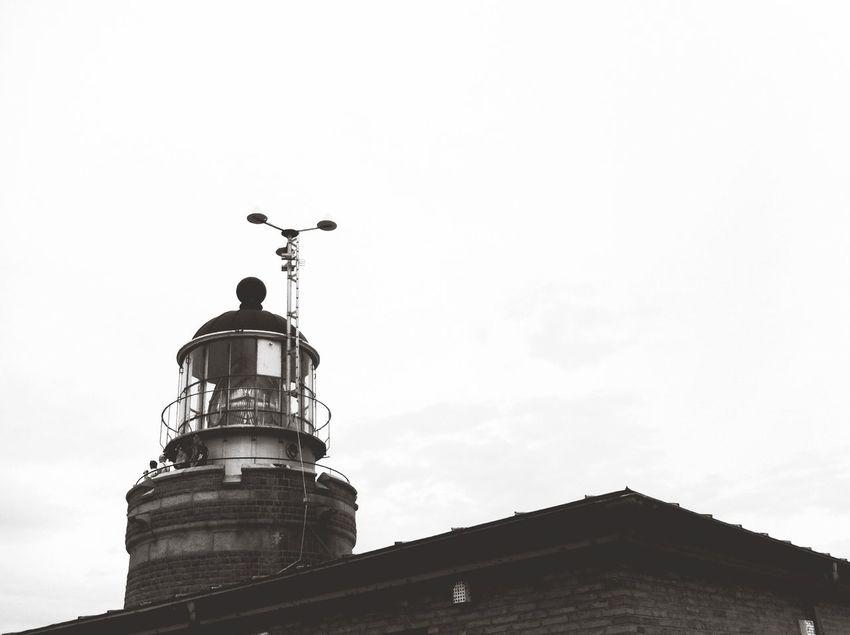 Lighthouse Black & White Black And White Silhouette