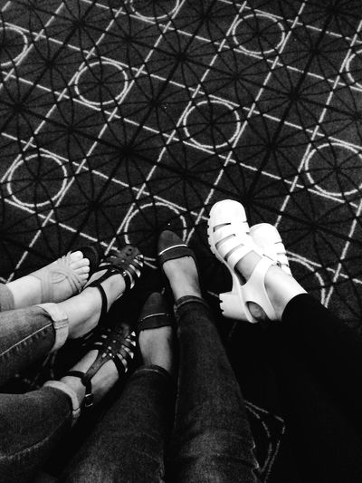 Low Section Person Personal Perspective Togetherness Lifestyles Bonding Footwear Shoe Relaxation Human Foot Casual Clothing Day Friendship Friends Forever! Quality Times Monochrome Photography