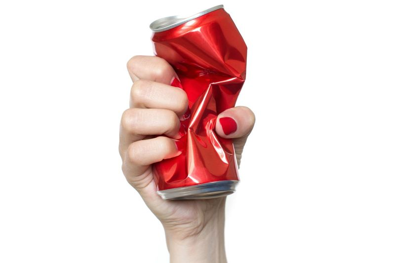 Young woman's hand holding and squeezing red soda can on white background Thirst Resolution Strength Sobriety  Pollution Recycling Modern Art Emotional Stress Beer - Alcohol Anger Alcohol Abuse Drink Can Social Issues Soda Water Beer Can Alluminum Can Alcoholic  Bad Habit Drunk Aggression  Garbage Addiction Party Summertime Red Human Hand Cut Out Close-up Celebration Sweet Food The Minimalist - 2019 EyeEm Awards