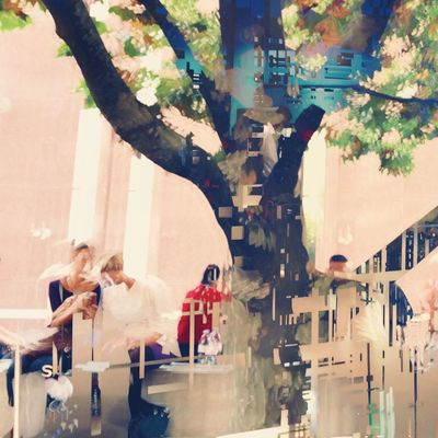PIAZZA photokina Relaxing Chilling Conceptual Double Exposure