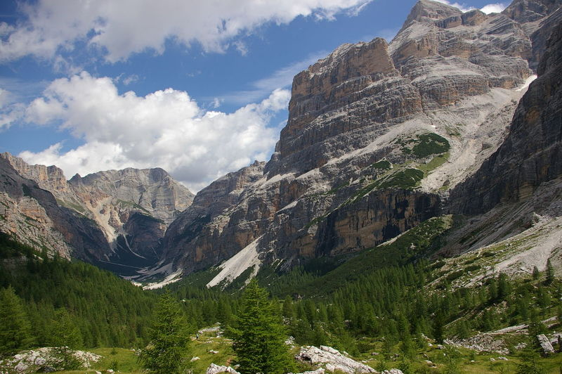 Scenic View Of Dolomites Against Sky