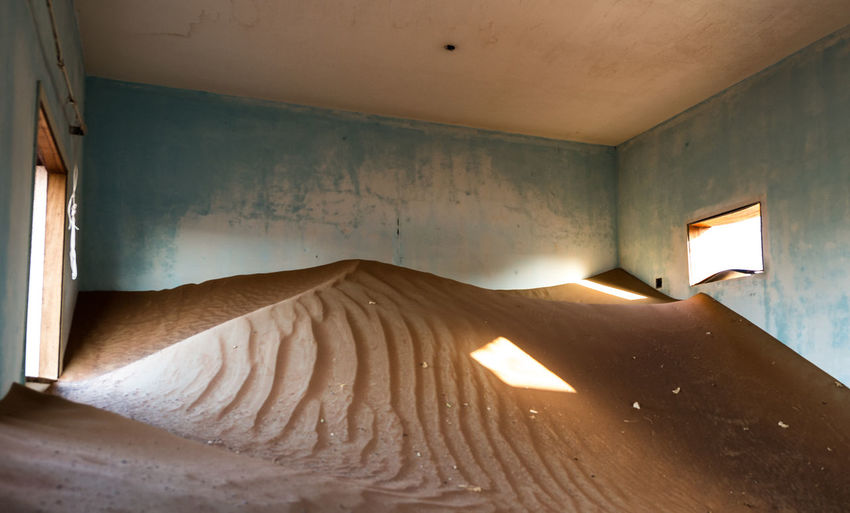 Sand In Abandoned Room