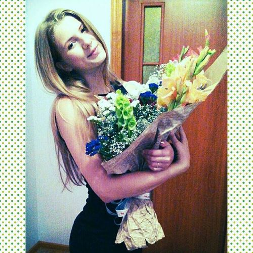 Me Happy Sweet Flowersforme🎆💐 girl flowers радість happyday