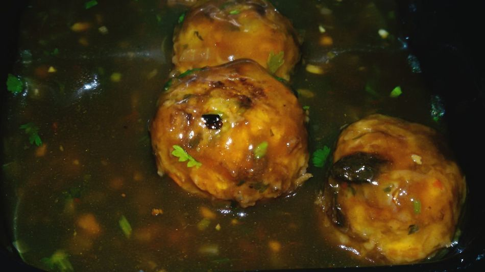 Close-up Food Finding New Frontiers Manchurian Gravy Spicy Food Restaurant