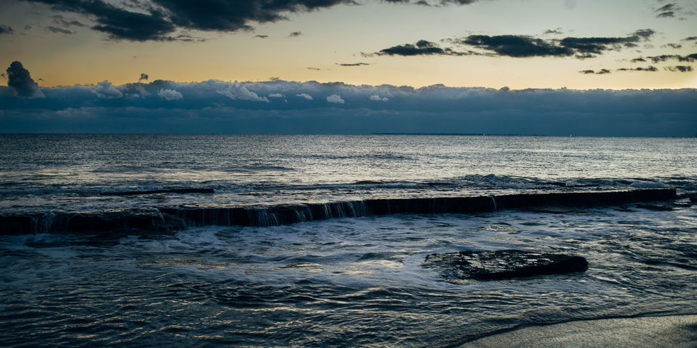 Winter beach waves Beach Horizon Over Water Outdoors Sea Seascape Shore Water Wave