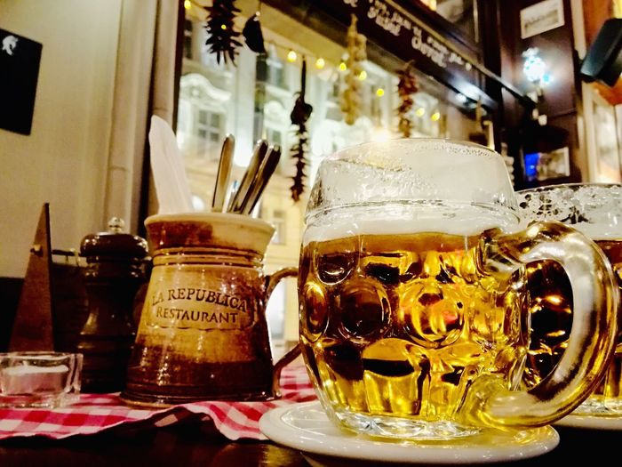Indoors  Table Food And Drink Drink Refreshment Household Equipment EyeEmNewHere Beer Restaurant