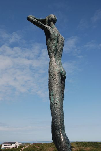 Art And Craft Day Human Representation Mediation, Nature Outdoors Sculpture Sky Woman Woman Of EyeEm Woman On The Sky