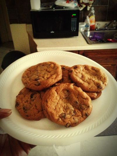 Thebest Baked Goods Chocolate♡ Chocolate Chip Cookies Fresfromtheoven Yummy♡ Snack Time! LastNight Chocolates Yessssssss
