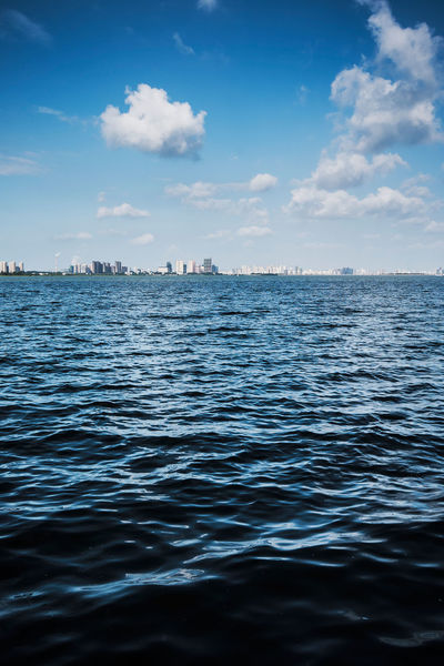 Blue Blue Wave China Cloud - Sky Distant Hefei Horizon Over Water Lake Rippled Scenics Sea Sky Tranquil Scene Tranquility Water Waterfront
