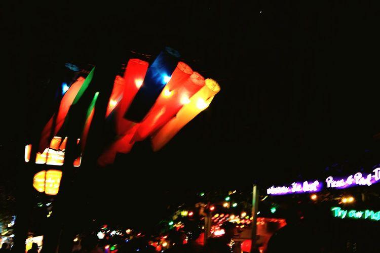 People Kaosarnroad Night Light Nightlife Party Illuminated City Lantern Celebration Traditional Festival Red Lighting Equipment Entertainment Paper Lantern Nightclub