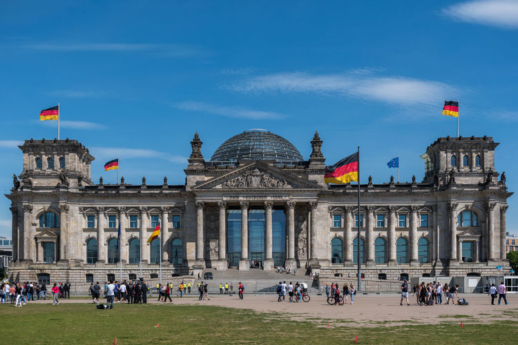 View of the reichstag building against sky